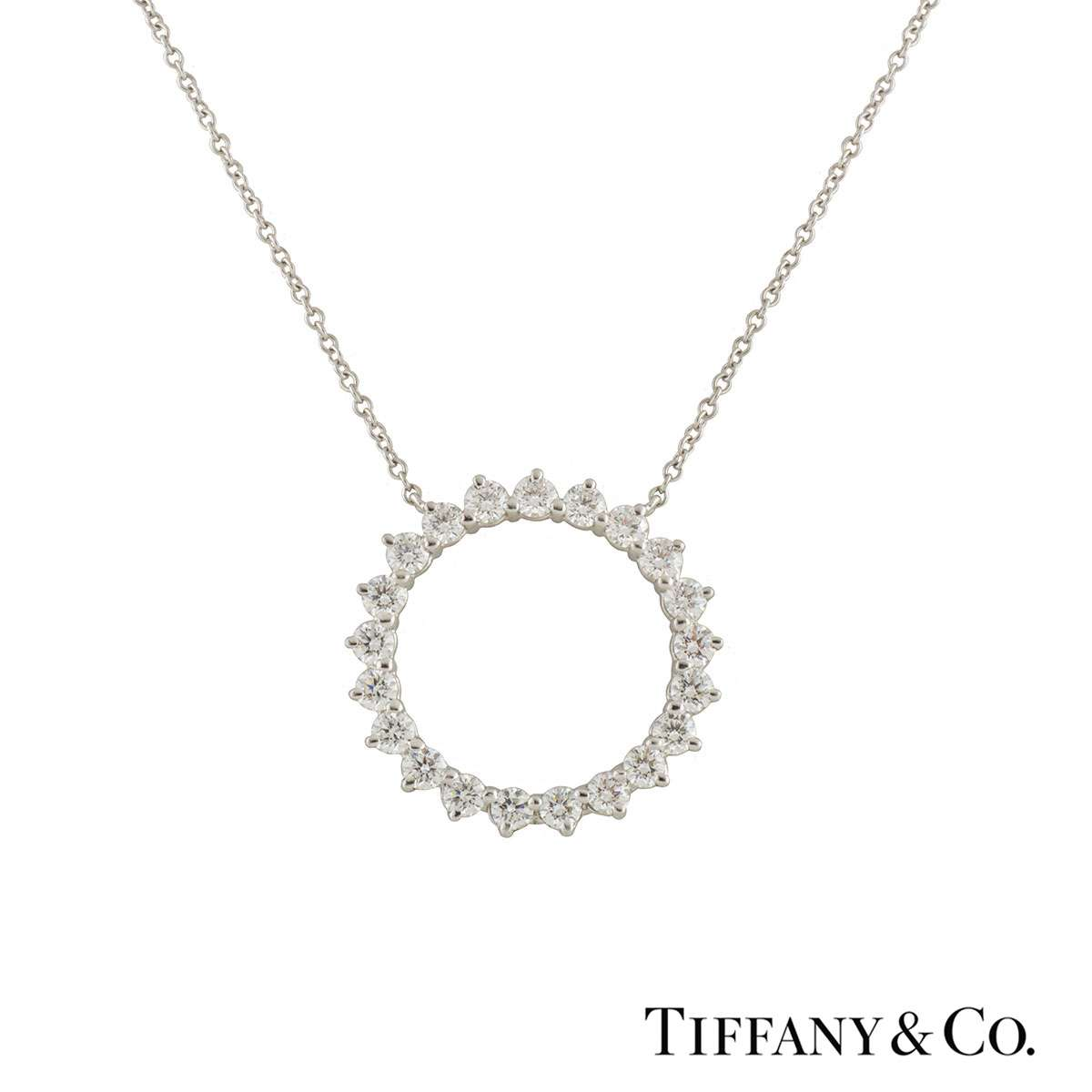 Tiffany & Co. Diamond Open Circle Pendant